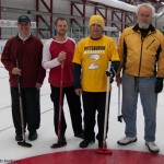 2012 Diamond City bonspiel Champions: (l-r) Ian Webb, Aaron Dubberly, Rich Ashford, and Don Baird.